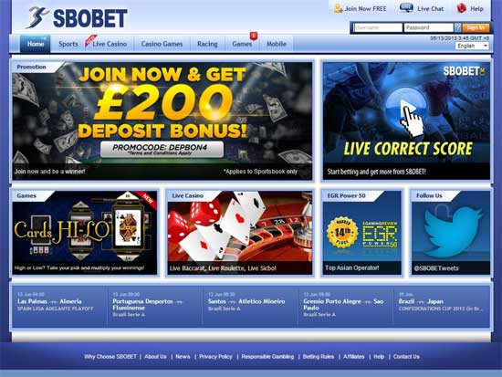เว็บไซต์ Sbobet แทงบอลออนไลน์